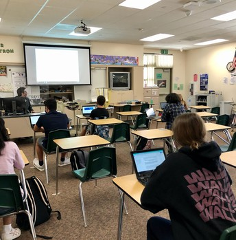Hybrid learning with Mr. Stroh