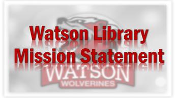 Watson Library Mission Statement Logo