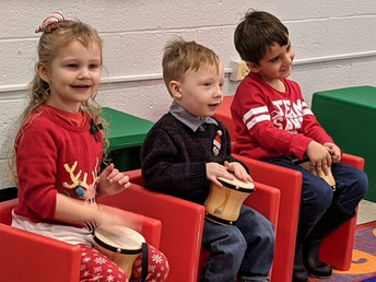 Tiny Toppers Preschool students at Dec. 19 Holiday Concert