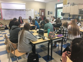 UHS teachers speak to School Age Child students about their content areas