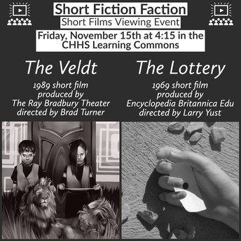"November 15th Viewing of Short Film Adaptations ""The Lottery"" & ""The Veldt"""
