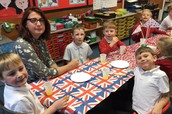 VE Day street party in Year 2.
