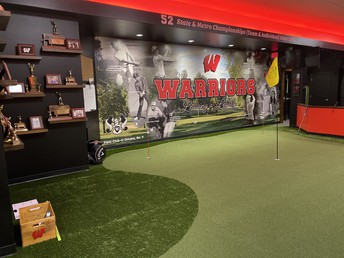 Donors, District Dedicate Merrill 'Swede' Carlson Westside Golf Training Center