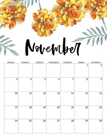 November Dates to Remember: