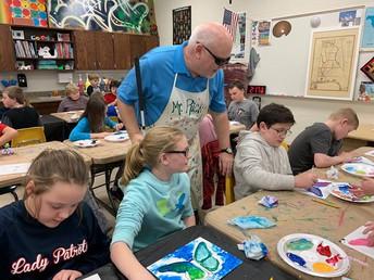 Alabama Artist Ricky Trione visits MCS Students