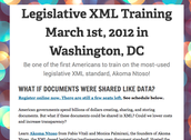 Organized 1st American Akoma Ntoso Training