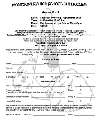 MHS Cheer Clinic