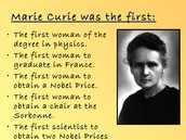 Marie Curies firsts