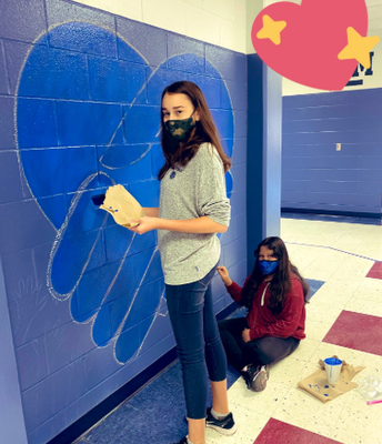 Art Students have started a NEW Mural!!