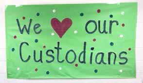 photo of we love custodians banner