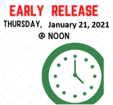 Thurs, Jan 21st NOON Dismissal - Conferences
