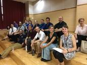 CDS Middle School teachers before Back to School Night