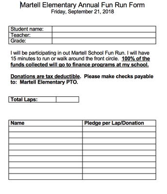 Recording sheet for our students