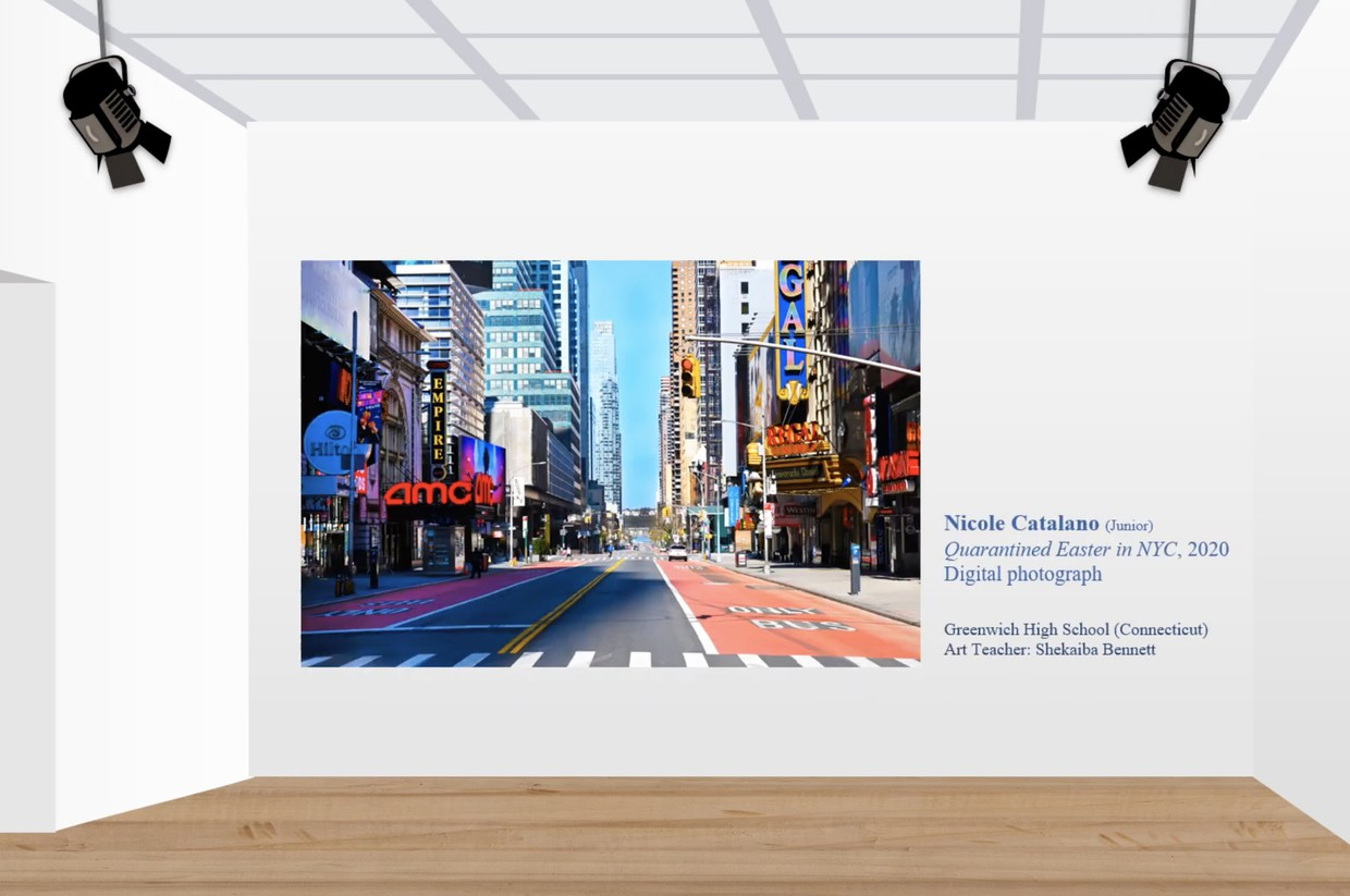 Digital Photograph of Times Square by GHS student