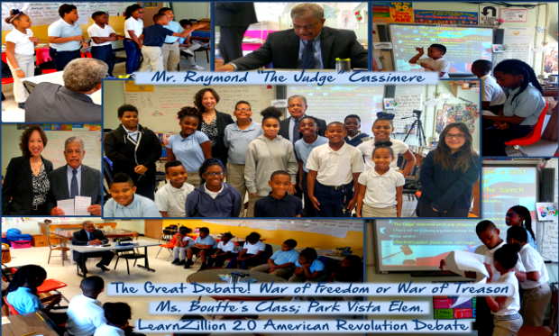 Park Vista Elementary GETS VISIT FROM MR. RAYMOND CASSIMERE