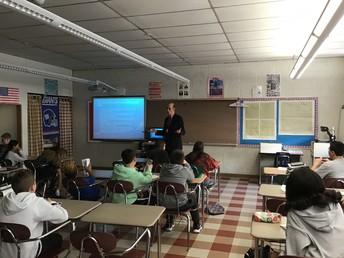 Judge Novin visit's Mr. Spencer's Class