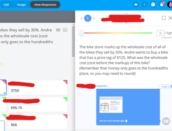 Goformative Feedback over Percentages