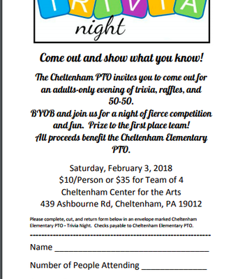 CE PTO Trivia Night