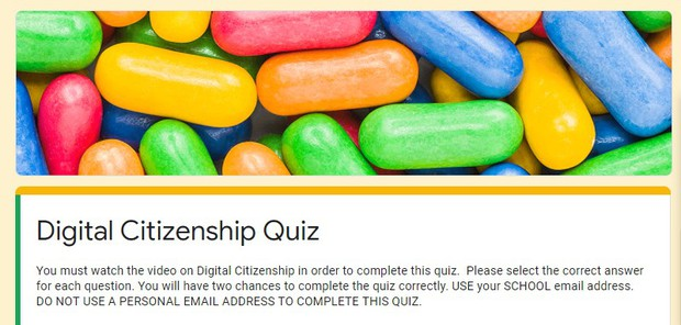Link to Digital Citizenship Quiz