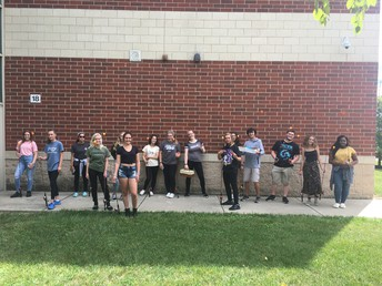 Mr. Ekis's Zoology students gather data by fishing a local pond to determine species numbers.