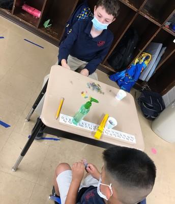 5th grader mentoring Pre-school student