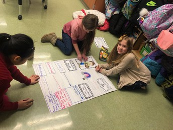 3rd grade students working hard on their projects