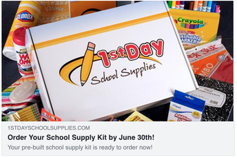 Order supplies NOW for the 2019-20 School Year