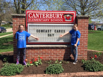 Comcast Cares Day at Canterbury Elementary School