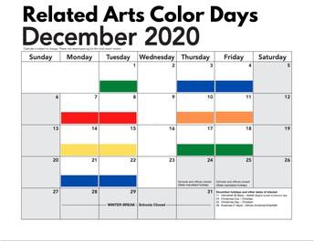 December Related Arts Schedule