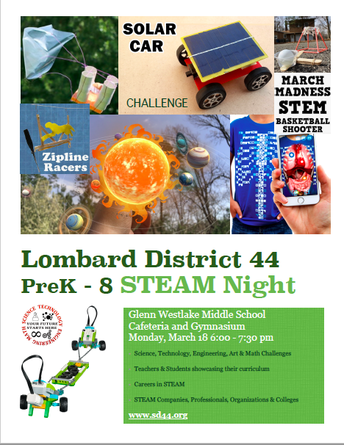 Join Us for Lombard District 44's 2nd Annual STEAM Night