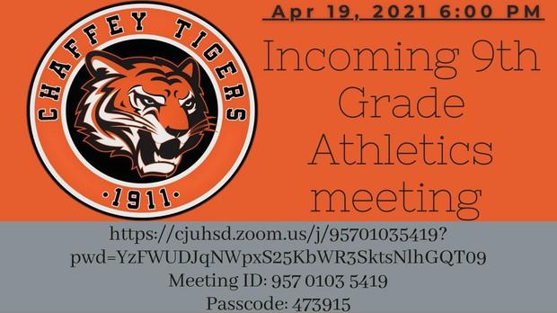 Chaffey High School -- Incoming Freshman Athletics Meeting