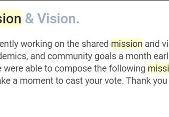 Shared Mission & Vision.