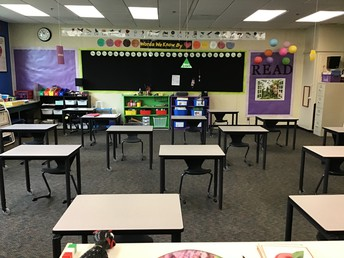 Classrooms are all set for the return of students.