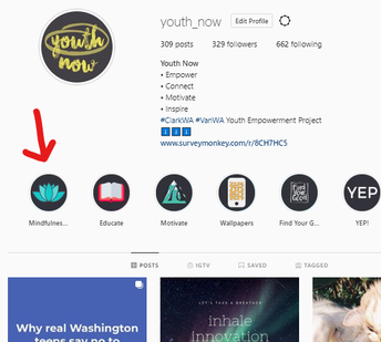 Youth Now Mindfulness button