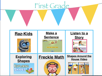 First Grade Choice Board