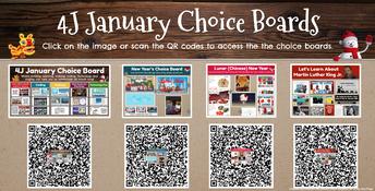 January Choice Boards