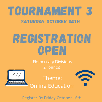 Upcoming Elementary Tournament