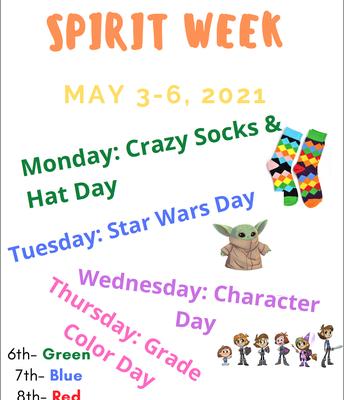 SPIRIT WEEK MAY 3RD