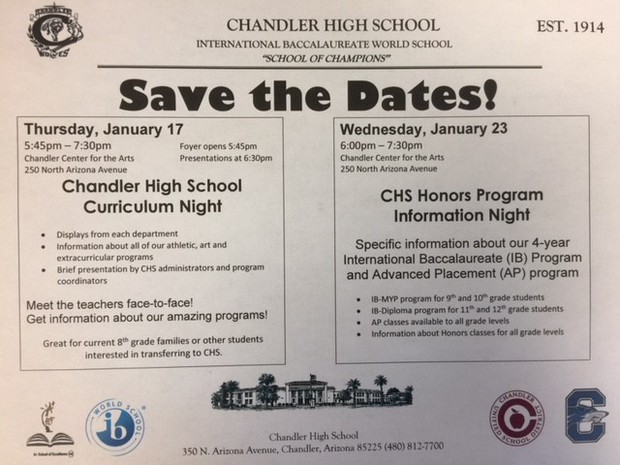 Curriculum and Honors Night Flyers