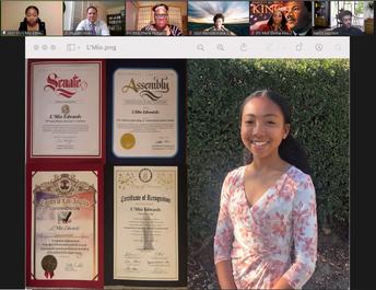 Social Justice Award to L'Mio Edwards