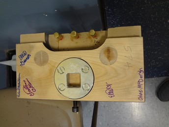 Signed pedal lyre