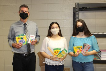 SCHOOL SUPPLIES DRIVE ORGANIZED BY TWO SCS STUDENTS BENEFITS CLASSROOMS