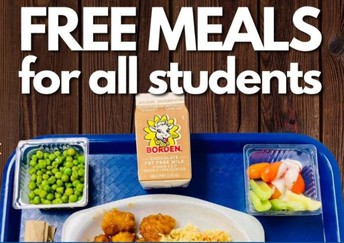 Free Meals continue for the 2021-2022 School Year