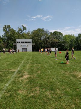 Flag Football Throwing and Catching