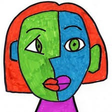 Cubist Portrait Inspired by Pablo Picasso: