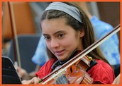 Petunia Rizo represents Mt. Everest Academy at All-County Middle School Honor Orchestra