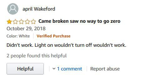 Customer Review: Came Broken