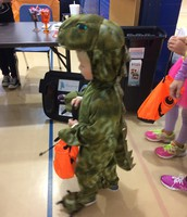 Dinosaurs even Trunk or Treat.