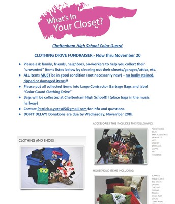 Color Guard Clothing Drive