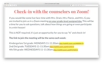 """""""Zoom"""" in with the Counselors!"""